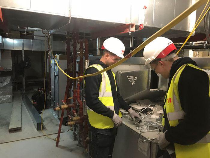 3 Merchant Square SCI BMS trainee electricians